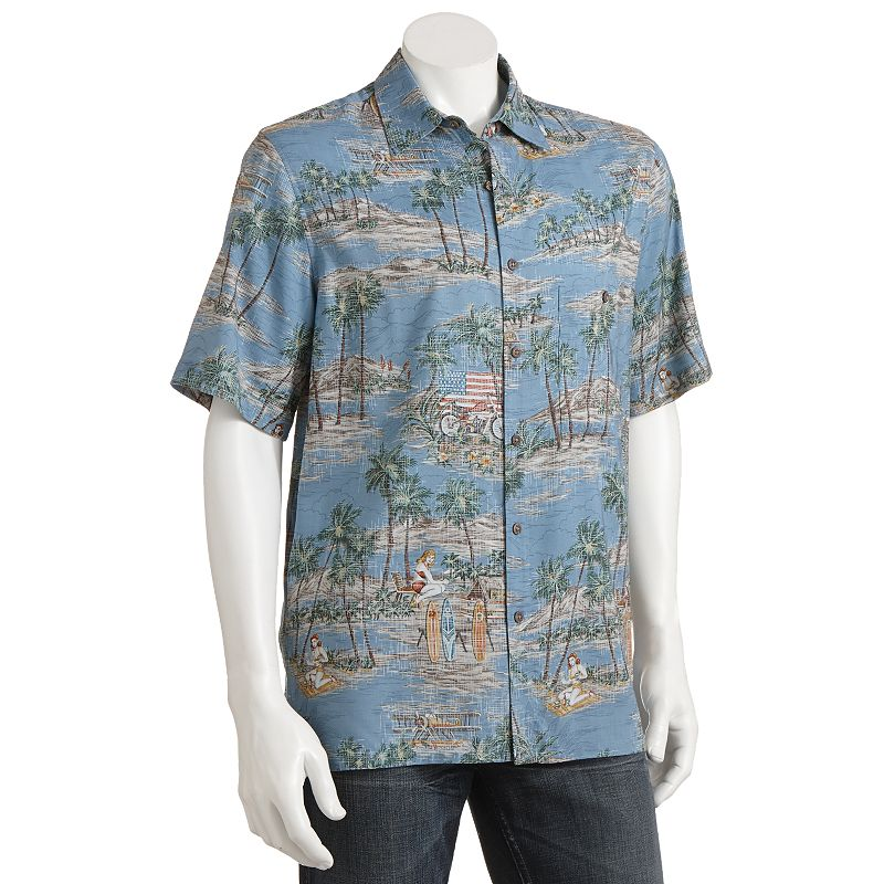 Men hawaiian shirts kohl 39 s for Men s batik bay silk blend button down shirt