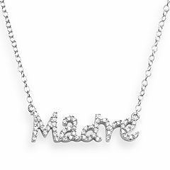 Sophie Miller Sterling Silver Cubic Zirconia 'Madre' Necklace