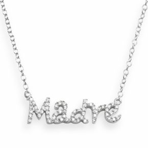 Sophie Miller Sterling Silver Cubic Zirconia Madre Necklace