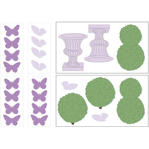 Petit Tresor Papillon Wall Decals