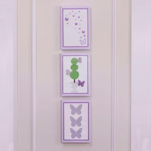 Petit Tresor Papillon 3-pk. Wall Art