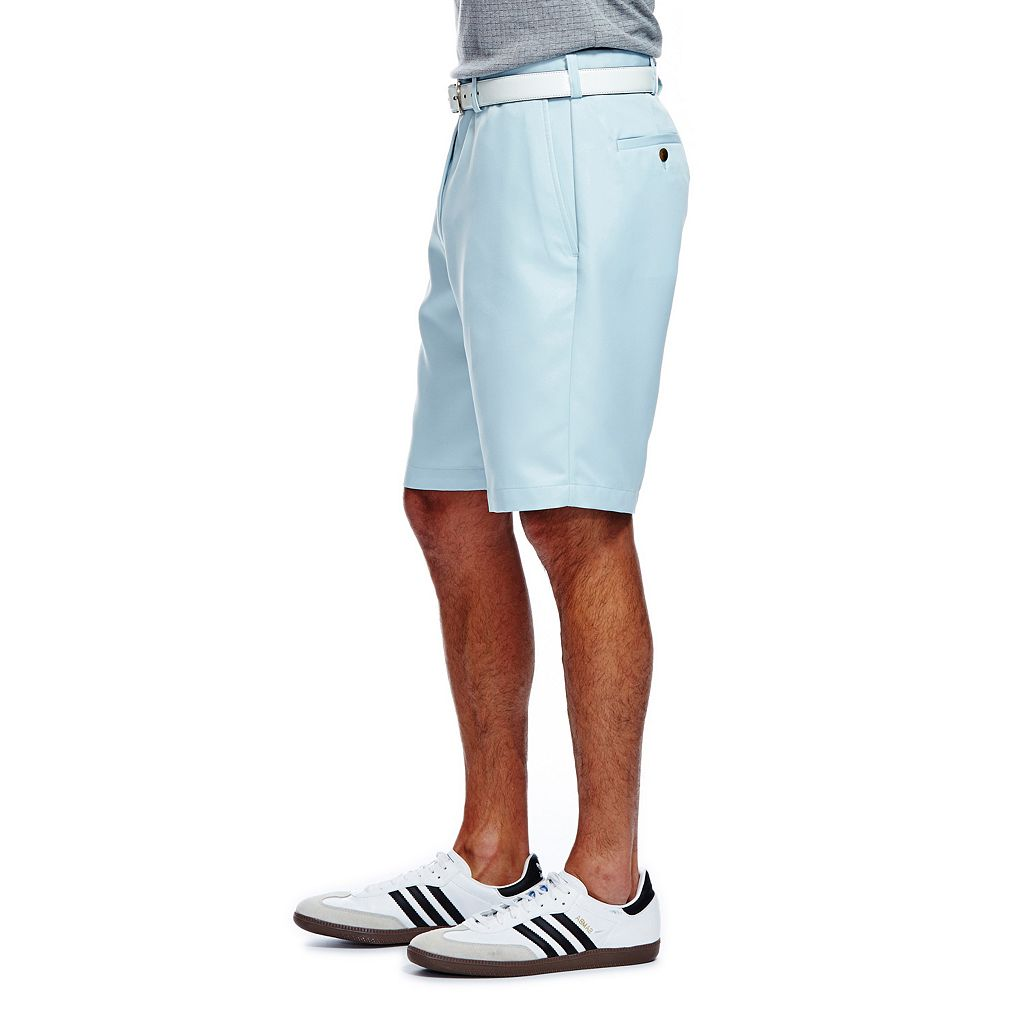 Men's Haggar® Cool 18® Plain-Front Microfiber Performance Shorts