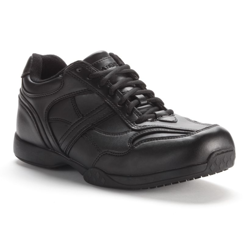 Grabbers Calypso Men's Slip-Resistant Euro Oxford Work Shoes, Size: medium (6), Black