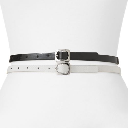 Apt. 9® Reversible Skinny Belt Set