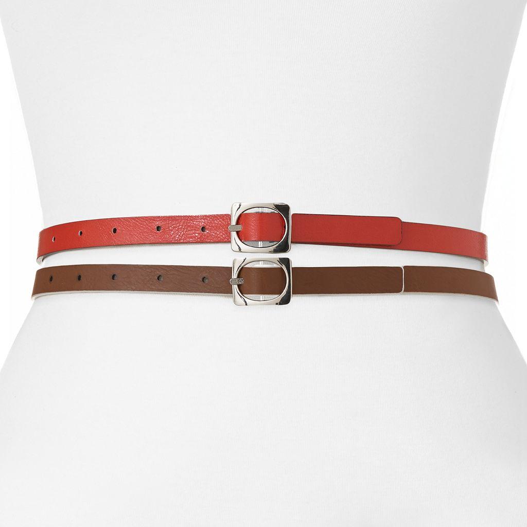 Apt. 9® Reversible Skinny Belt Set