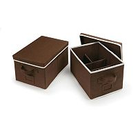 Badger Basket 2 pc Foldable Storage Baskets