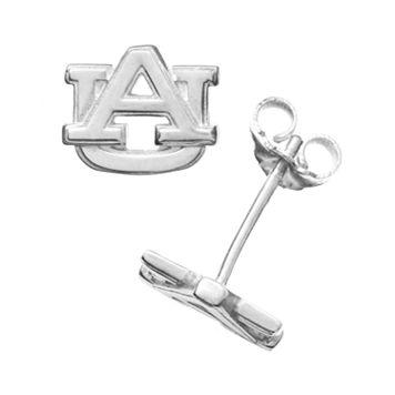 Dayna U Auburn Tigers Sterling Silver Logo Stud Earrings