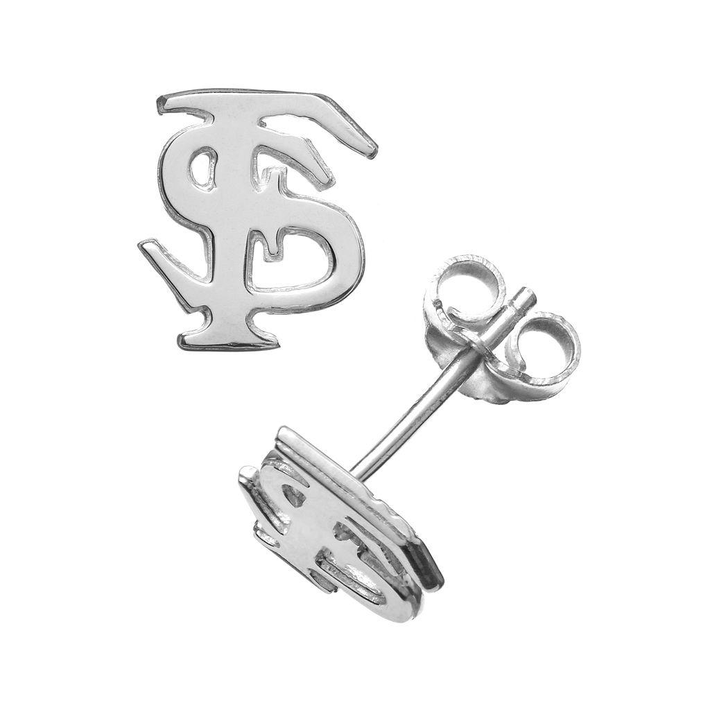 Dayna U Florida State Seminoles Sterling Silver Logo Stud Earrings