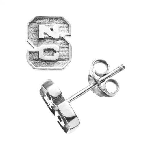 Dayna U North Carolina State Wolfpack Sterling Silver Logo Stud Earrings