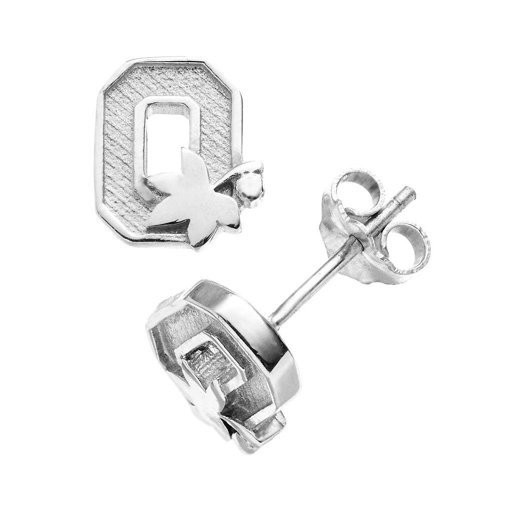 Dayna U Ohio State Buckeyes Sterling Silver Logo Stud Earrings