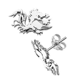 Dayna U South Carolina Gamecocks Sterling Silver Logo Stud Earrings