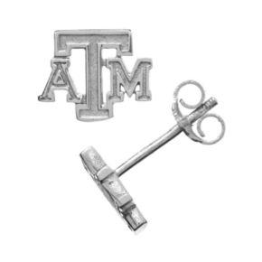 Dayna U Texas A&M Aggies Sterling Silver Logo Stud Earrings