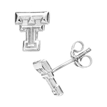 Dayna U Texas Tech Red Raiders Sterling Silver Logo Stud Earrings