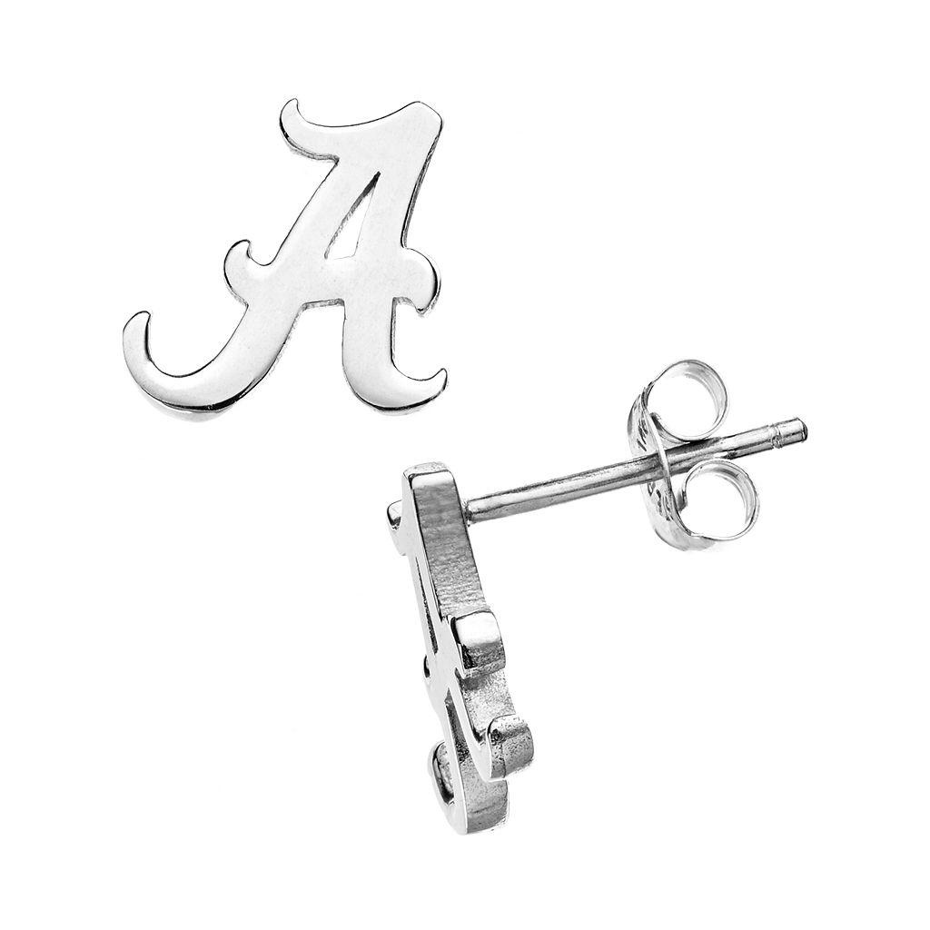 Dayna U Alabama Crimson Tide Sterling Silver Logo Stud Earrings