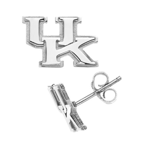 Dayna U Kentucky Wildcats Sterling Silver Logo Stud Earrings
