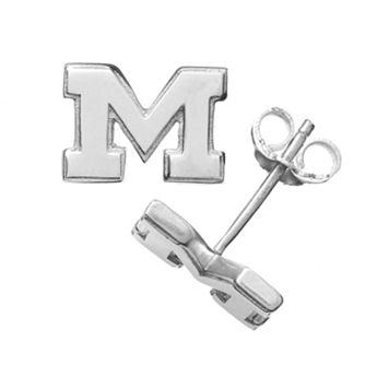 Dayna U Michigan Wolverines Sterling Silver Logo Stud Earrings