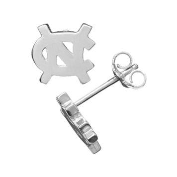 Dayna U North Carolina Tar Heels Sterling Silver Logo Stud Earrings