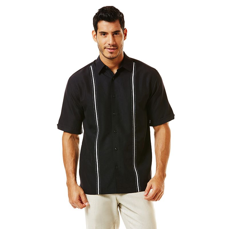 Havanera striped casual button down shirt big tall for Big and tall casual shirts