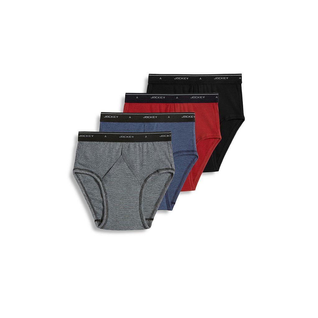 Men's Jockey 4-pk. Classic StayDry Low-Rise Briefs