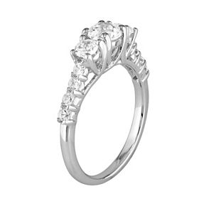 Stella Grace Sterling Silver Lab-Created White Sapphire Ring