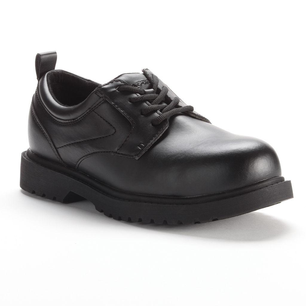 Grabbers Citation Men's Slip-Resistant Steel-Toe Oxford Work Shoes