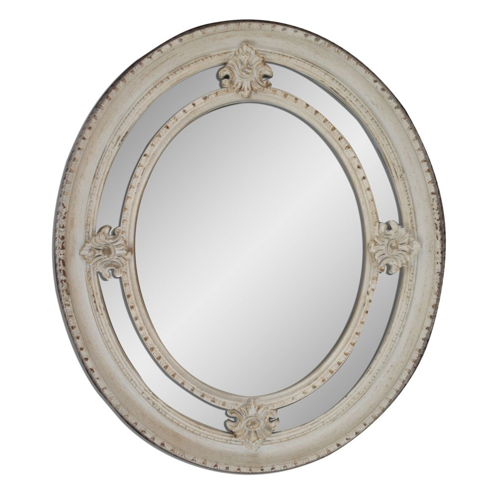 Oval Wall Mirror maison shabby oval wall mirror