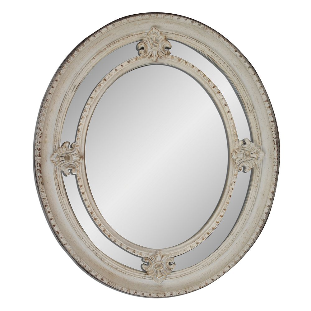 Maison shabby oval wall mirror belle maison shabby oval wall mirror amipublicfo Choice Image