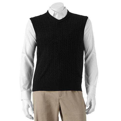 Dockers® Cable-Knit Sweater Vest - Men