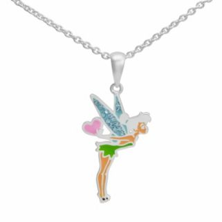 Disney Fairies Tinker Bell Silver-Plated Crystal Pendant