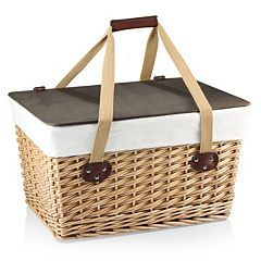 Picnic Time Canasta Grande Willow Picnic Basket