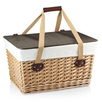 Picnic Time Canasta Grande Willow Picnic Basket