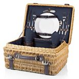 Picnic Time Champion Willow Picnic Basket with Service for 2