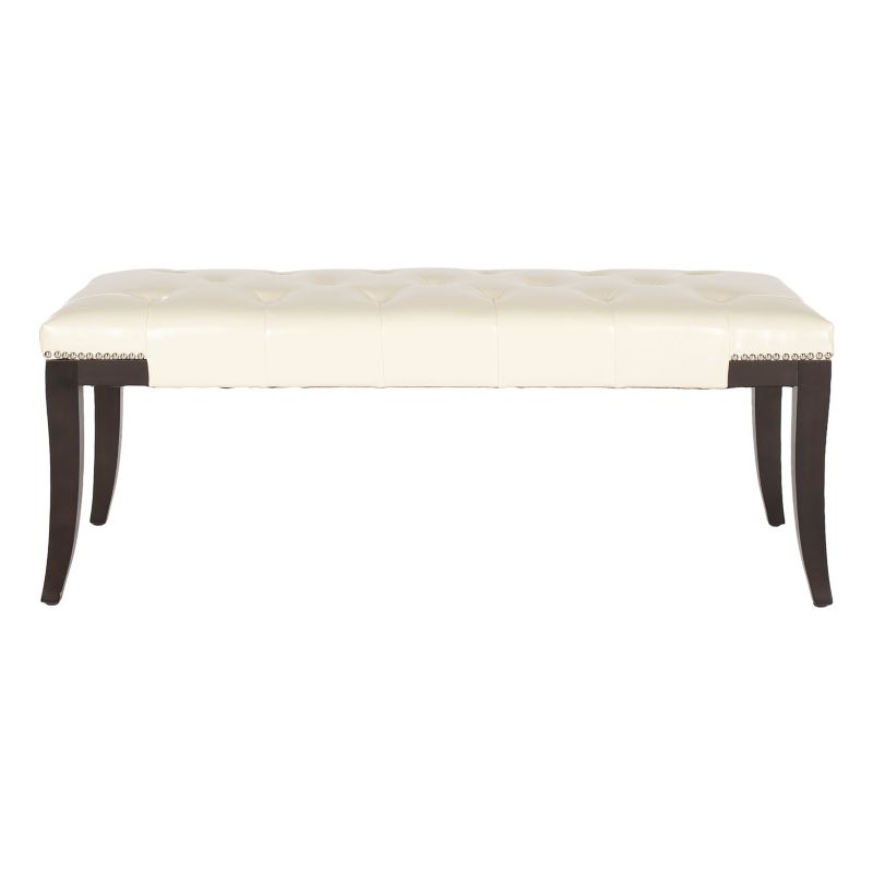 Cream Leather Bench Gibbons Faux-leather Bench