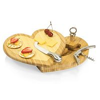 Picnic Time Heart 4 pc Cheese Board Set