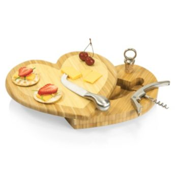 Picnic Time Heart 4-pc. Cheese Board Set
