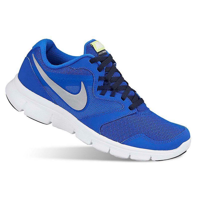 Nike Blue Flex Experience 3 Running Shoes - Grade School Boys