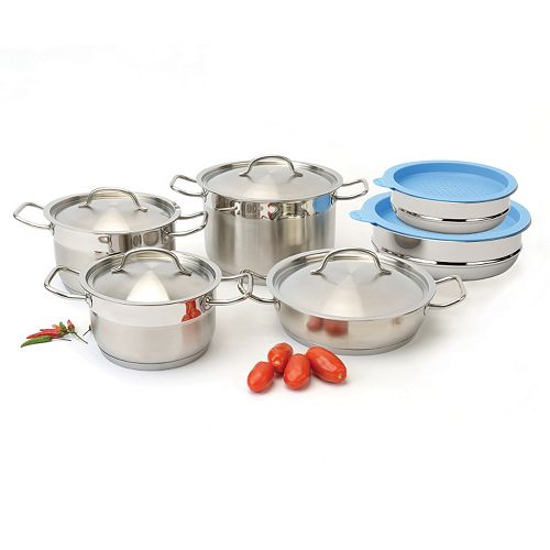 BergHOFF Hotel Line 12-pc. Stainless Steel Cookware Set