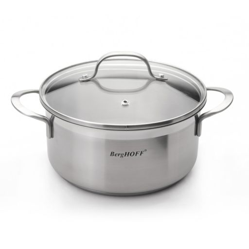 BergHOFF Bistro 2.7-qt. Stainless Steel Covered Casserole Dish