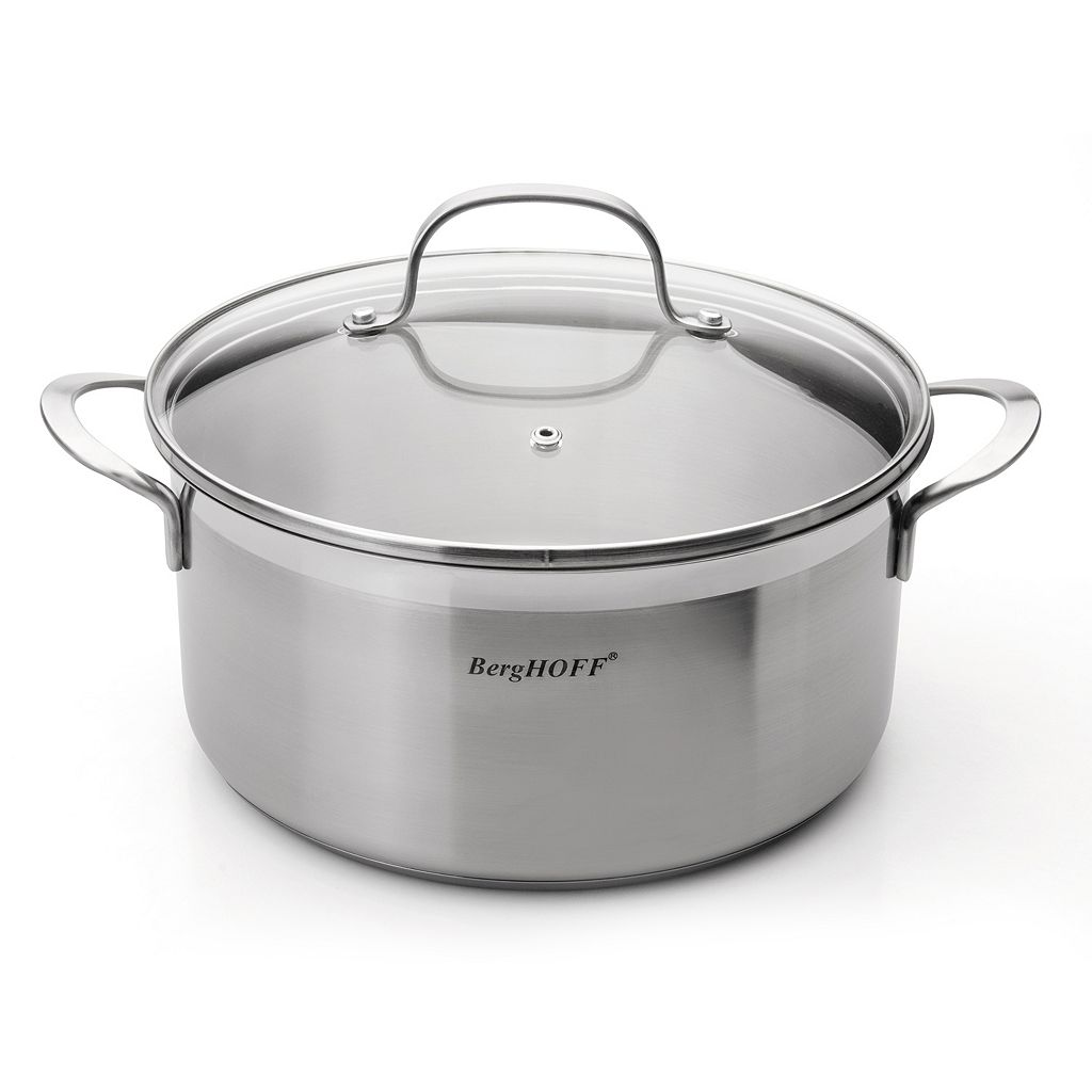 BergHOFF Bistro 4.8-qt. Stainless Steel Covered Stockpot