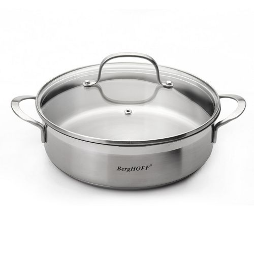 BergHOFF Bistro 2.9-qt. Stainless Steel Covered Deep Skillet