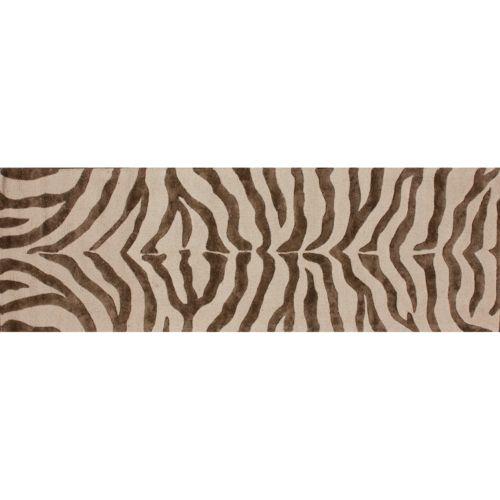 """nuLOOM Earth Radiant Zebra Rug Runner – 2'3"""" x 8′"""