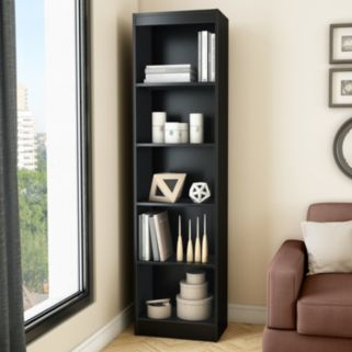 South Shore Axess 5-Shelf Narrow Bookcase
