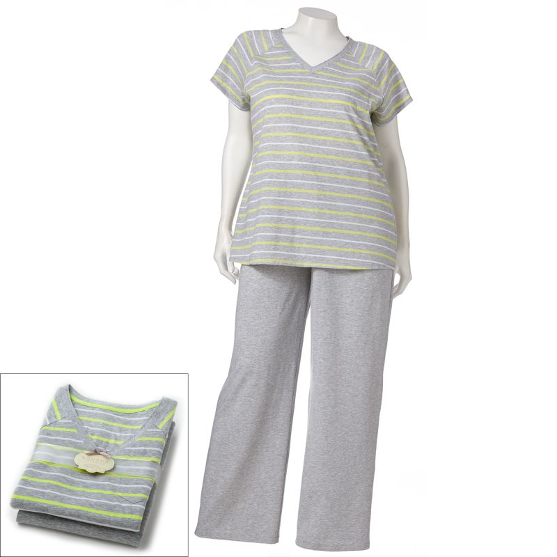 SONOMA life + style Pajamas: Mother's Day Raglan Pajama Set - Women's Plus