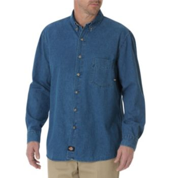 Big & Tall Dickies Denim Button-Down Shirt