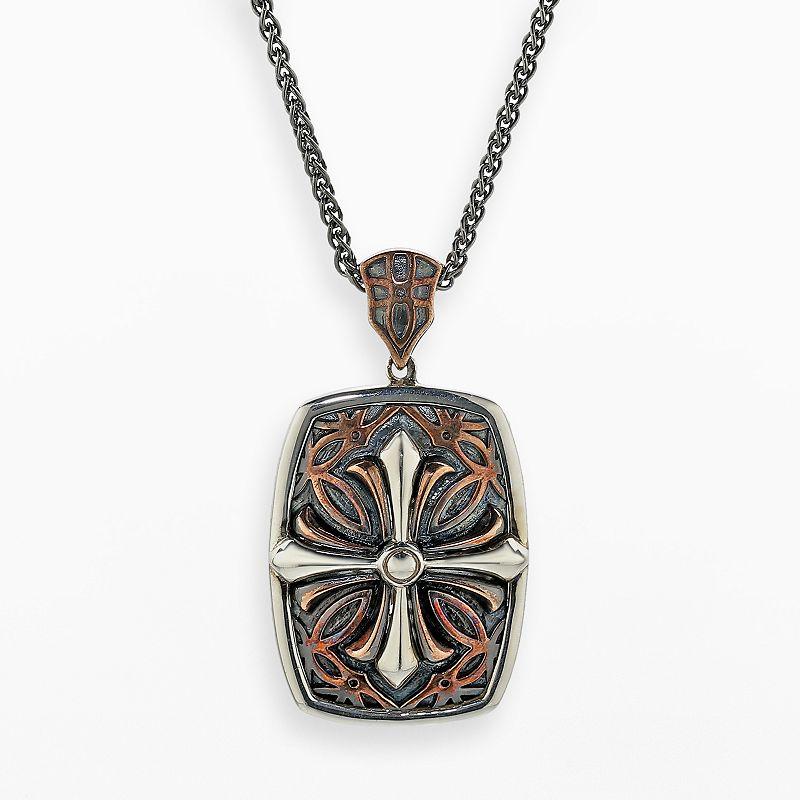 Mens silver cross jewelry kohl 39 s for Kohls jewelry mens rings