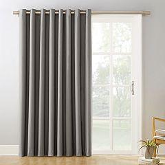 Sun Zero Blackout 1-Panel Ludlow Patio Door Window Curtain - 100' x 84'
