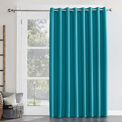Sun Zero Blackout 1-Panel Ludlow Patio Door Window Curtain - 100' x 84'