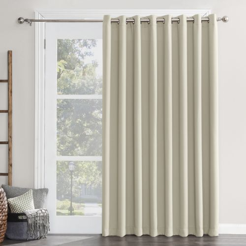 Sun Zero Blackout 1 Panel Ludlow Patio Door Window Curtain 100 X 84