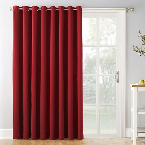 "Sun Zero Blackout 1-Panel Ludlow Patio Door Window Curtain - 100"" x 84"""