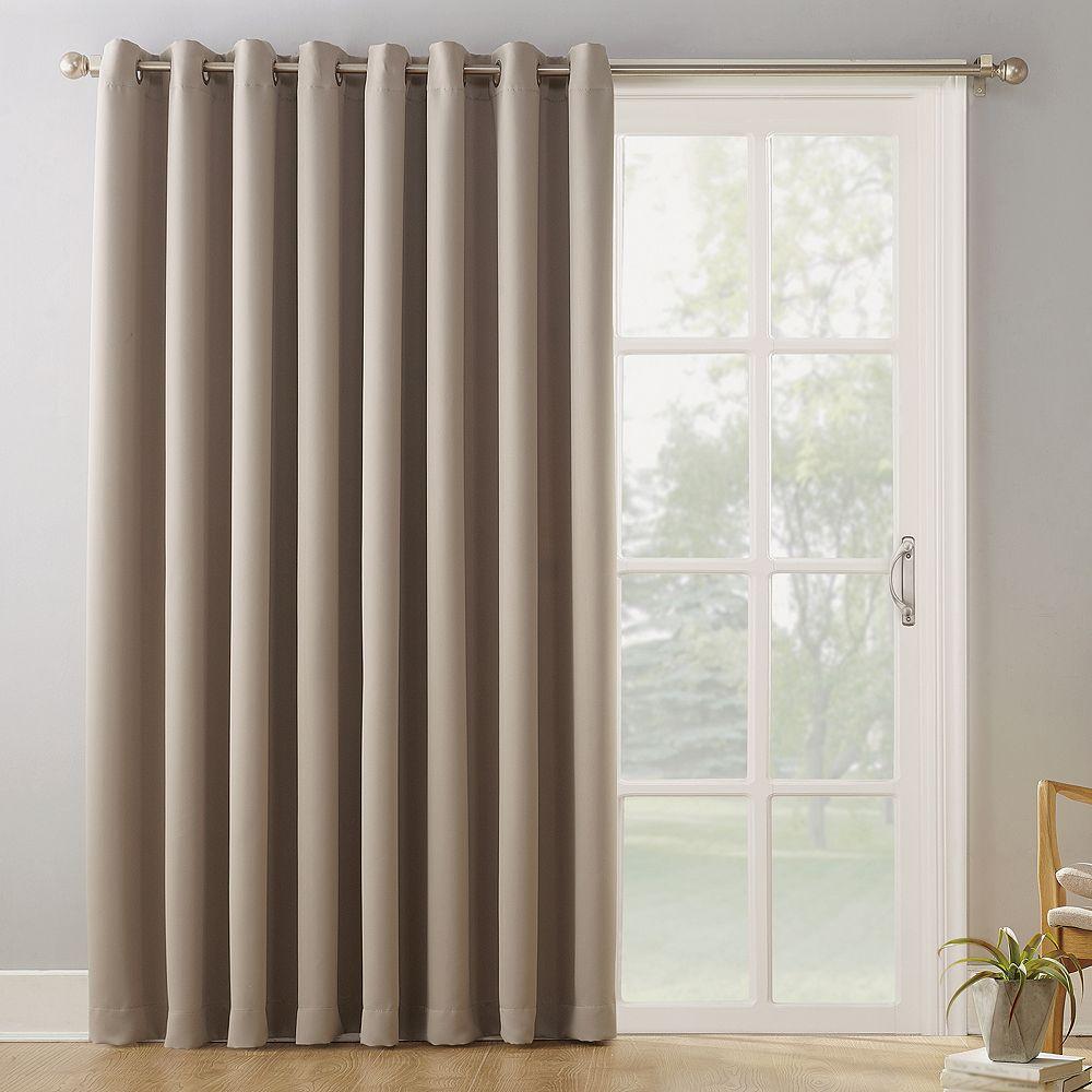 "Sun Zero Blackout 1-Panel Ludlow Patio Door Window Curtain - 100"" x 84"""